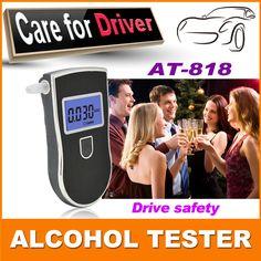 2015 새로운 뜨거운 판매 전문 경찰 디지털 숨을 알코올 테스터 음주 AT818 무료 배송 + 10 개 마우스 피스