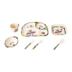Eco-friendly Bamboo Fiber Baby Feeding Dinnerware Sets Heat-resistant Bamboo Fiber Kids  sc 1 st  Pinterest & Bamboo Fiber Children Dinnerware Set | Bamboo Fiber Kids Feeding ...