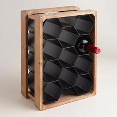 cost plus world market black hexagonal wine rack pinterest wine rack kitchens and apartments