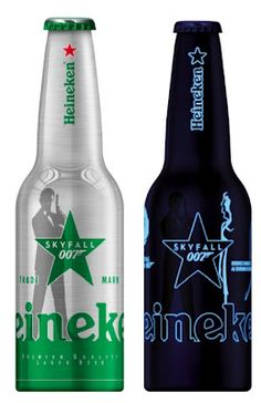 James Bond's Skyfall on Heineken's new Star Bottle #heineken #branding