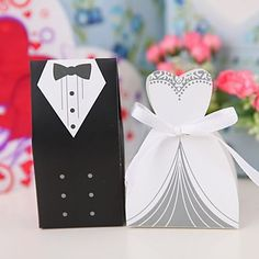 $17.88 100pcs Bride and Groom Wedding Favor Boxes Gift box Candy box