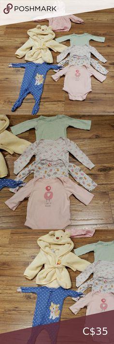 KIRKLAND Organic Cotton SLEEPSUIT Baby DOG Puppy Babygrow PJs12 Months