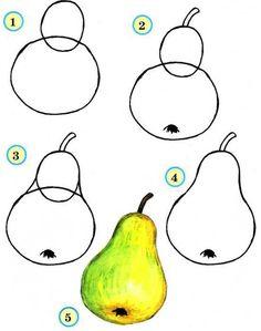 Рисуем овощи и фрукты. Обсуждение на LiveInternet - Российский Сервис Онлайн-Дневников