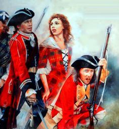 British troops with a Scottish noble woman during the Jacobite Rebellion- by Chris Collingwood