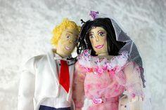 Puppen - Brautpaar Holzpuppe Modepuppe Gelenkpuppe - ein Designerstück von up4kids bei DaWanda