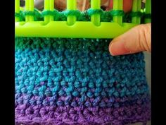 (46) Cobblestone Stitch Easy stitch for blankets, shawls, scarves, hats purses Loom Knit - YouTube