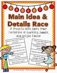 Main Idea and Details *FREEBIE*!main idea
