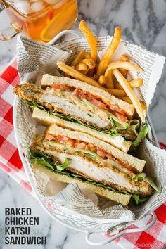 Baked Chicken Katsu Sandwich