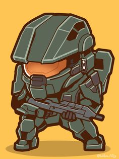 (*** http://BubbleCraze.org - Best-In-Class new Android/iPhone Game ***) Chibi Master Chief by ぼーぶら(ぷーちん)