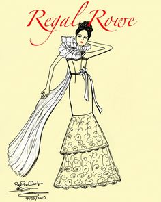 Regal Rowe Instant download fashion illustration by RegalRowe