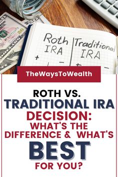 What is a Roth IRA? What is a Traditional IRA? What's the difference between a Roth IRA and Traditional IRA? Should you invest in a Roth IRA or 401k? In this beginner's guide to IRAs, easily learn how to not only decide between a Roth vs. Traditional IRA but how to start an IRA fast. #ira #invest #investing #RothIRA #stocks #money #financialplanning #moneymanagement Financial Tips, Financial Literacy, Financial Planning, Retirement Savings, Savings Plan, Saving Ideas, Money Saving Tips, Roth Vs Traditional Ira, Ira Investment