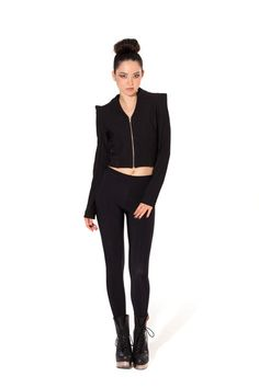 Warm Grey Leggings › Black Milk Clothing