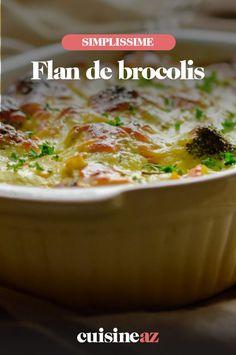 Le flan de brocolis est un accompagnement à base de légumes facile à préparer. #recette#cuisine #flan #brocoli #accompagnement Chili, Soup, Ajouter, Robot, Favorite Recipes, Cooking Recipes, Greedy People, Chile, Soups