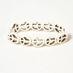 Peace Symbol Stretch Bracelet | Claire's