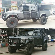 """I don't know """"the owner"""" but like it. by yurdakulcan I don't know """"the owner"""" but like it. Land Rover Defender 130, Defender Camper, Landrover Defender, Cars Land, Suv Cars, 4x4 Trucks, Cool Trucks, Jeep Truck, Offroader"""