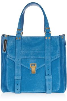 Proenza Schouler - The suede tote 2013 My Bags, Purses And Bags, Work Bags, Blue Suede, Beautiful Bags, Proenza Schouler, Fashion Bags, Messenger Bag, Totes