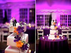 Automnale, la décoration d'une fete orange et violette peut finalement se dérouler durnat n'importe quelle saison: le mélange de l'orange: couleur de l'automne et du violet couleur très moderne est idéal pour une décortaion de mariage en septembre. Mais...
