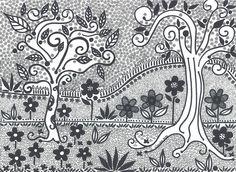 """""""Arboles negros"""" by Claudia Chacón"""