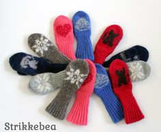 Ravelry: Beas Småbarnsvotter pattern by StrikkeBea Baby Barn, Ravelry, Gloves, Mini, Design, Baby Products, Hermione, Threading, Design Comics