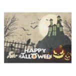 Spooky Haunted House Costume Night Sky Halloween Fleece Blanket #halloween #happyhalloween #halloweenparty #halloweenmakeup #halloweencostume