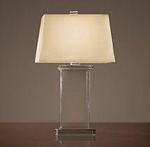 "$315 - $395  Crystal Pier Table Lamp 24"" high, or 28 1/2"" high"