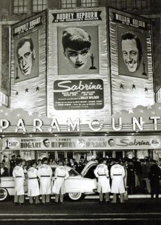 The Premiere Of Sabrina, 1954 ~ Audrey Hepburn, Humphrey Bogart & William Holden