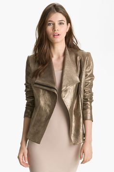 really love this gold leather jacket. remember me at christmas, friends! (robert rodriguez)