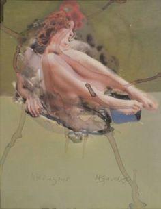 sitting  nude 2016