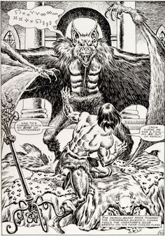 The Savage Sword of Conan Best Comic Books, Comic Books Art, Fantasy Heroes, Fantasy Art, Conan The Conqueror, Comic Book Panels, Conan The Barbarian, Sword And Sorcery, Cool Sketches