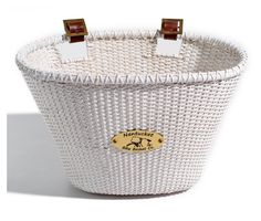 Nantucket Bike Basket Lightship Collection Adult Oval Basket - White - Bike Baskets at Hayneedle