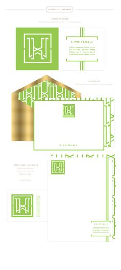 LOVE ME SOME custom monograms and stationery...K Whitehall Brand Design by Emily McCarthy