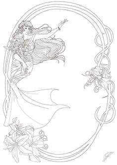 coloring pages mermaid.html