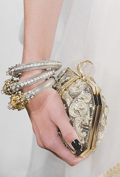 Accessory Details at Marchesa Spring 2013 | Keep the Glamour | BeStayBeautiful