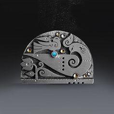 Funky Jewelry, Birthstone Jewelry, Silver Pendants, Metalworking, Creative Crafts, Pomegranate, Costume Jewelry, Silver Earrings, Jewerly