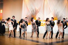 """Cute way to """"pose"""" your Wedding Party"""
