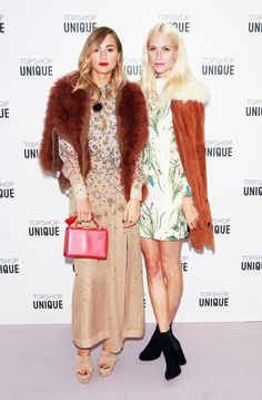 Suki-Waterhouse-Poppy-Delevingne-London-Fashion-Week-SS16 #Outfits #fashion #style #inspiration #chic #clothes #celebstyle #celebstyle