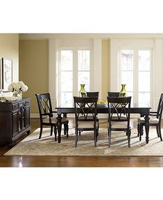 Paint Dining Room Set Black