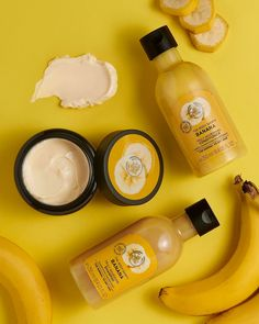 🍌𝐇𝐀𝐏𝐏𝐘 𝐍𝐀𝐓𝐈𝐎𝐍𝐀𝐋 𝐁𝐀𝐍𝐀𝐍𝐀 𝐋𝐎𝐕𝐄𝐑𝐒 𝐃𝐀𝐘  Did you know our creamy Banana Shampoo, Conditioner and Hair Mask are all enriched with real Community Trade organic banana puree from Ecuador?  Calm frizzy hair as you cleanse with our nourishing Banana range. 🍌 The Body Shop Logo, Beauty Care, Beauty Skin, Beauty Tips, Body Shop Skincare, Chi Hair Products, Goji, Body Shop At Home, Bath And Body Works
