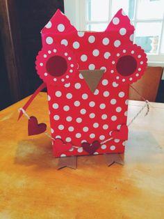 Valentine Owl Mailbox Pinned by www.myowlbarn.com