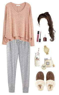 """Cozy Homeday ☕️🌧"" by xofashionismylovexo ❤ liked on Polyvore featuring Steven Alan, MANGO, Michael Kors, River Island, UGG, Laura Mercier, Burt's Bees, Crate and Barrel, NYX and Essie"