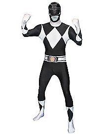 Power Rangers Black Ranger Adult Mens Costume