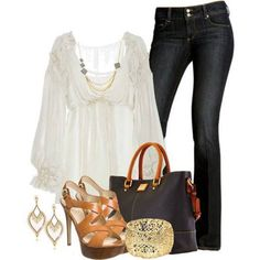 I need a top like this...light, pretty & hides the tummy lol. Shoes are lovely as well