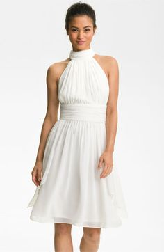 Maggy London Ruched Chiffon Halter Dress available at #Nordstrom.