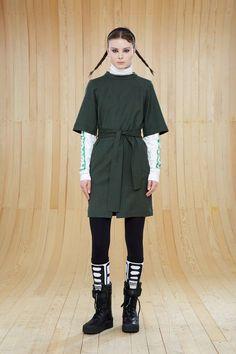 Marc Jacobs Junko Lightweight Wool Belted Mini Dress