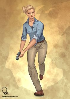 Elena Fisher - Uncharted: Elena is an incredible woman by anyone's standards. She's witty, amusing, and intensely intelligent. And to top it all off, she's an incredibly brave reporter who can do anything Nathan Drake can do—and probably better. She can hold her own, and she does it under some fairly terrifying situations that would give most of us the urge to run to mommy.