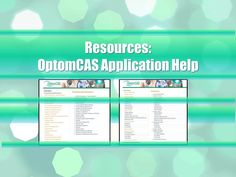 More help for completing your OptomCAS application! Southern California Colleges, Optometry, How To Apply, Ads