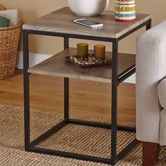 Attractive and functional, the Forteau End Table will enhance your living space with style at an affordable price. The table features a large square top and shelf that provide ample storage space.
