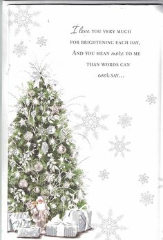 Prelude Husband Christmas Card ~ To My Wonderful Husband At Christmas ~ Traditional Christmas Tree Extra Large Card 8 Pages Of Verses Christmas Card Wishes, Christmas Card Verses, Christmas Movie Quotes, Christmas Sentiments, Beautiful Christmas Cards, Christmas Blessings, Christmas Messages, Card Sentiments, Xmas Cards