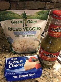 Salsa Cream Cheese Cauliflower Rice