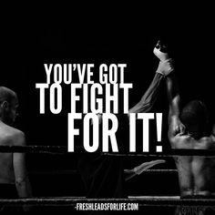 Stay in the fight! Stay in the game! The only way to fail is to quit!